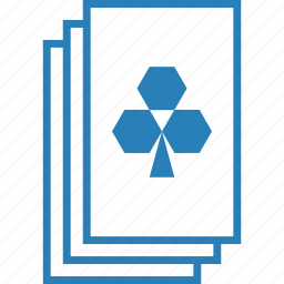casino, clover, clubs, deck, gambling, playing cards, suit icon