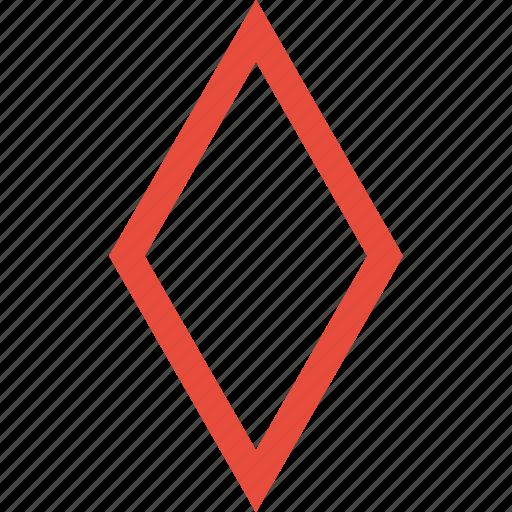diamond, gamble, geometric, playing cards, rhombus, shape, tile icon