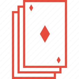 casino, deck, diamond, gambling, playing cards, poker, suit icon