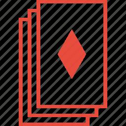 casino, deck, diamond, gambling, playing cards, poker, suit icon