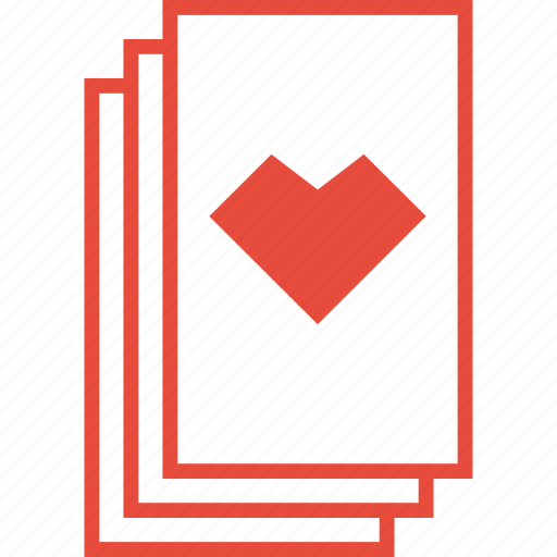 card, casino, gambling, game, heart, playing cards, suit icon