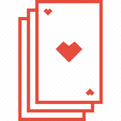 deck, gambling, heart, playing cards, poker, stack, suit icon