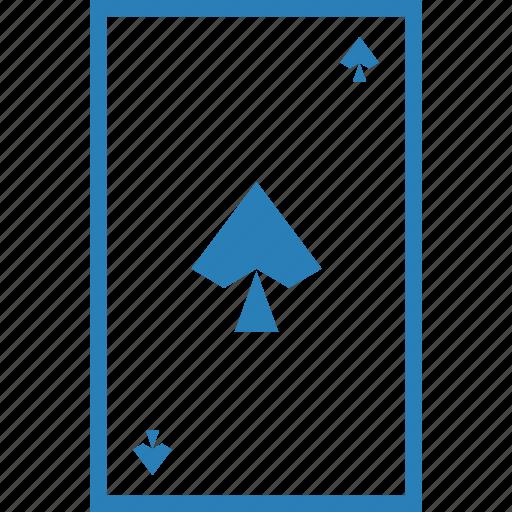 card, gamble, gambling, luck, pike, playing, spade icon