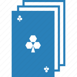 clover, clubs, deck, entertainment, gambling, playing cards, poker icon