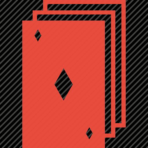 casino, deck, diamond, gambling, playing cards, poker, tile icon