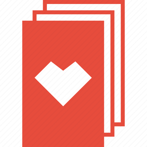 casino, deck, gambling, heart, playing cards, poker, stack icon