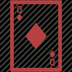 ace poker, blackjack, casino, diamond card, gambling, poker, queen icon