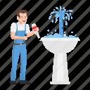 water tap, water faucet, wash basin, leakage, repairing, plumber, plumbing