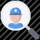 magnifier, man, pipe, plumber, plumbing, search, water