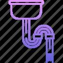 clogging, pipe, plumber, plumbing, water icon