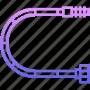 flexible, pipe, plumber, plumbing, water icon