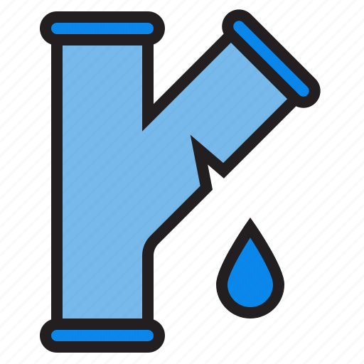 leak, plump, tools, water icon