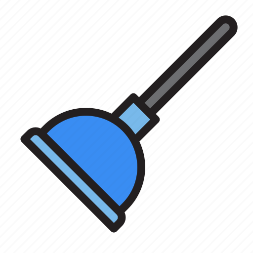 plump, plunger, tools, water icon