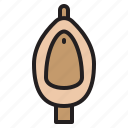 plump, tools, urinal, water icon