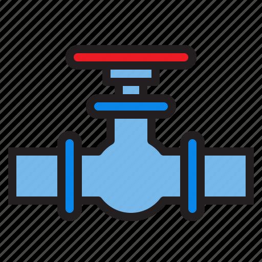 plump, tools, valve, water icon