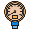 gauge, plump, tools, water icon