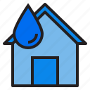house, plump, tools, water icon