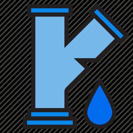 leak, plump, tools, water icon