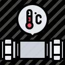 pipe, plumber, plumbing, temperature, water icon