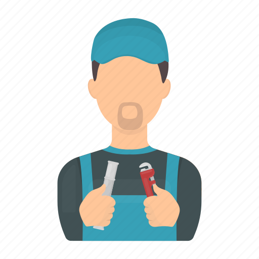 Man, plumber, profession, service, tool, uniform, worker icon - Download on Iconfinder