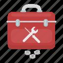 case, plumber, plumbing, suitcase, tool, wrench icon
