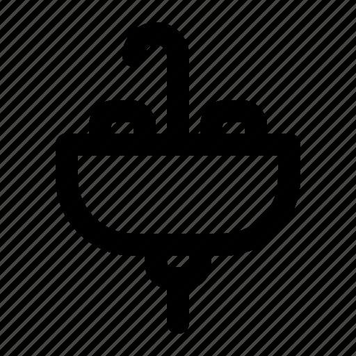 Basin, plumbing, water, furniture, pipe, tap, sink icon - Download on Iconfinder