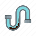 industrial, pipe, pipeline, plumbing, tube, valve, water icon