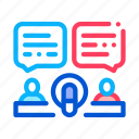 chat, hosts, message, microphone, talk icon