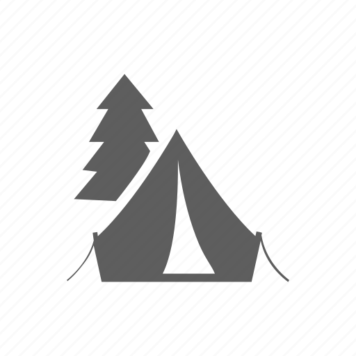 camping, site, tent, travel icon
