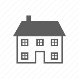 apartment, building, estate, house, real icon