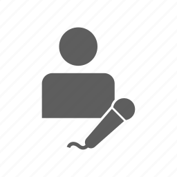 artist, microphone, musicians icon