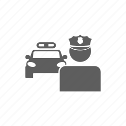 car, department, police, security, vehicle icon