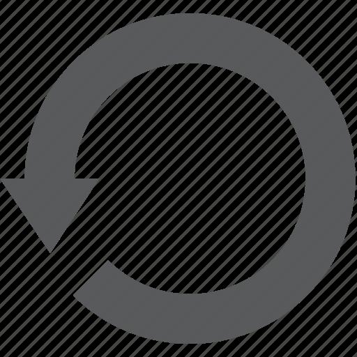 backward, reload, return, undo, web browser, web navigation, website icon