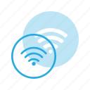 direction, gps, interest, map, points, spot, wifi icon