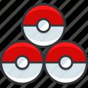 gaming, nintendo, pokeballs, pokemon icon