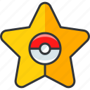 gaming, nintendo, pokemon, star icon