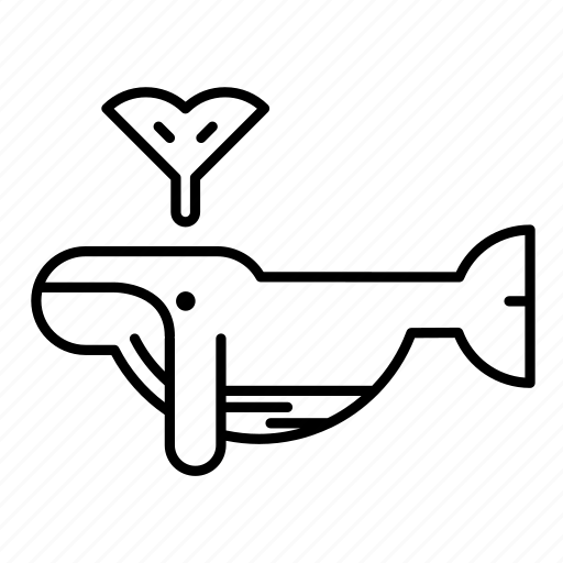 Animal, mammal, marine, ocean, sea, whale, wild icon - Download on Iconfinder