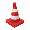 barrier, cone, fencing, limiter, plastic, red, road