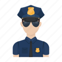 man, officer, order, policeman, profession, uniform icon