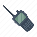 communications, conversation, device, equipment, police, radio, transmitter icon
