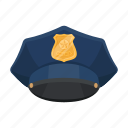 cap, headdress, policeman, uniform icon