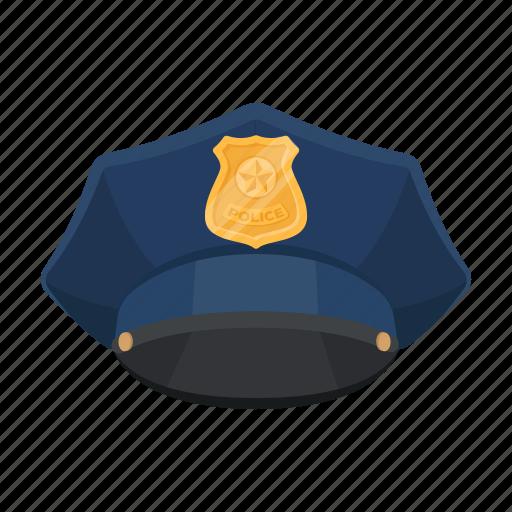 Cap, headdress, policeman, uniform icon - Download on Iconfinder