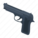 firearms, gun, pistol, police, weapon icon