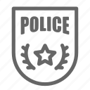 badge, military, police icon
