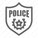 badge, military, police, sheriff, shield icon