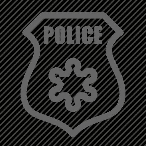 badge, police, sheriff icon