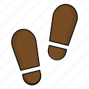 case, crime, footstep, human, police icon