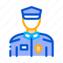 police, policeman, silhouette, suit