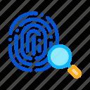 dactylogram, fingerprint, magnifier, search