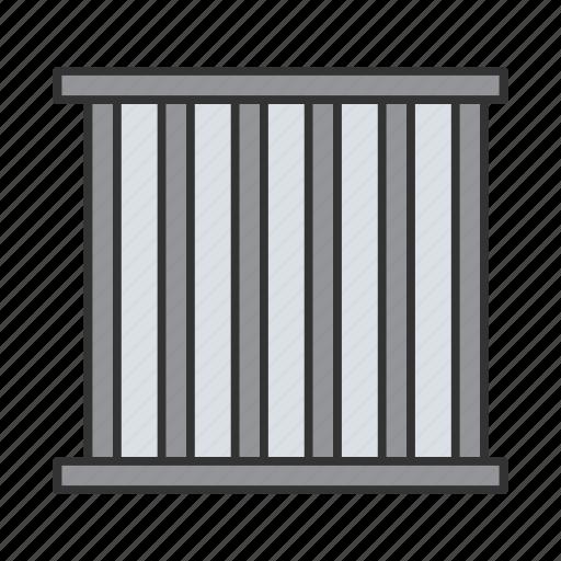 arrest, cage, jail, jailhouse, prison, prison bars icon